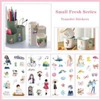creative little fresh girl animal flower scrapbooking hand account student stationery diy decoration transfer sticker paper