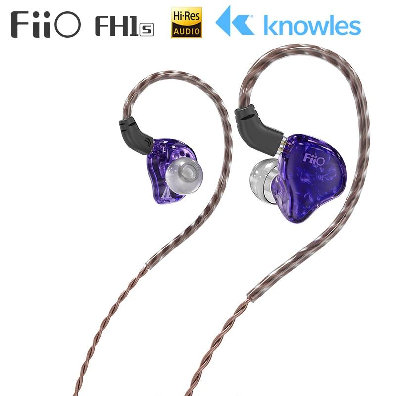 FiiO FH1s ايفي ستيريو 1BA (نولز) + 1 الديناميكي الهجين سماعة IEM مع 0.78 2 دبابيس انفصال كابلات مع العميق باس ايفي