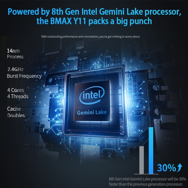 BMAX Y11 Laptop 11.6 Inch Quad Core Intel N4120 N4100 1920*1080 IPS Screen 8GB LPDDR4 RAM 256GB SSD ROM Notebook Windows10