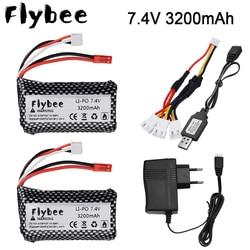 7.4 v 3200mah lipo bateria jst plug 18650 e carregador conjunto para controle remoto helicóptero brinquedos acessórios 7.4 v 2s bateria peças