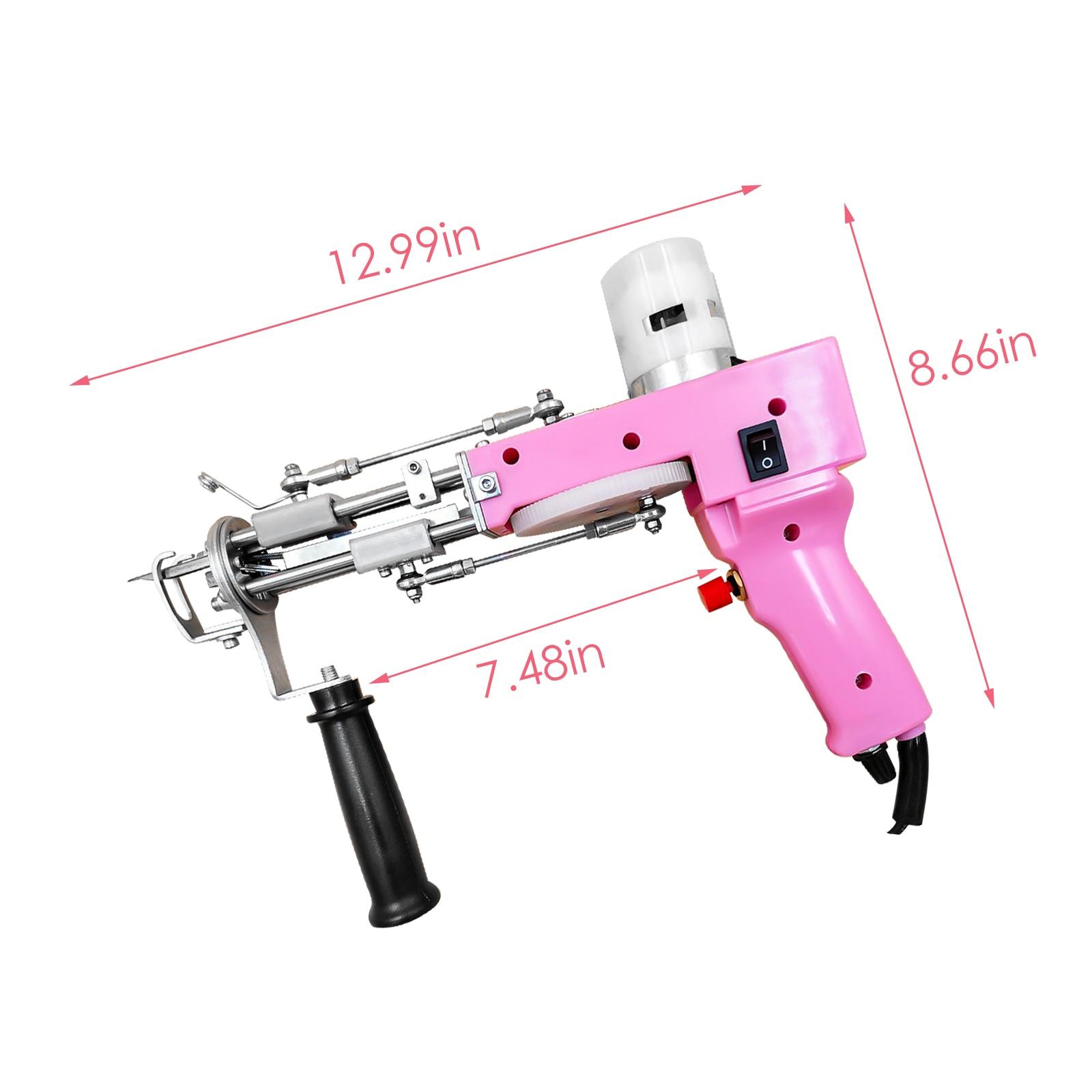 2 in 1 Pink Tufting Gun (Cut and Loop Pile) Electric Carpet Rug Guns Carpet Weaving Knitting Machine for DIY Knitting & Crochet enlarge