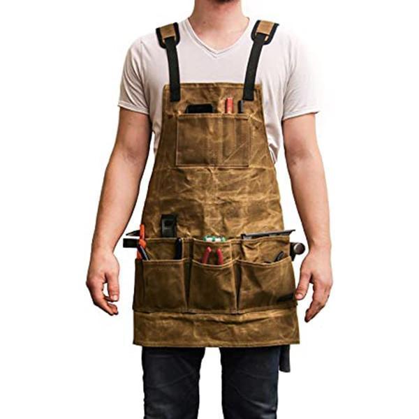 Multi-Pocket Tool Skirt  Fashion Unisex Work Apron For Men Canvas Tool bag  Woodworking Apron Durable Goods Kitchen Universal smallrig pocket sized tool set universal folding multi tool for videographers use for camera gimbal 2713