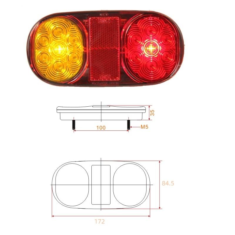 12V LED trailer tail lights lamp kit trailer lights cable trailer parts waterproof ADR APPROVAL enlarge