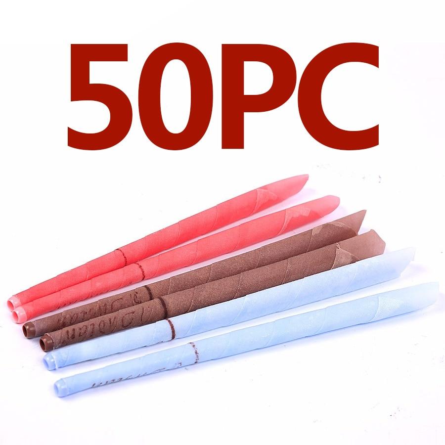 50 шт. ушные свечи для удаления воска сережки форма рога с затычками ушей