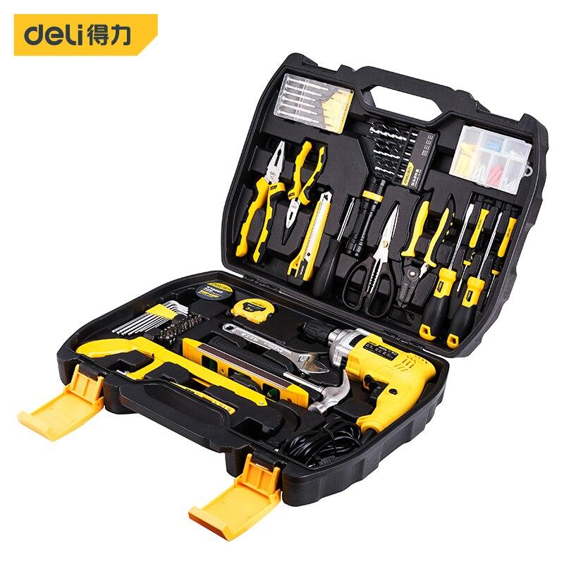 Deli 138 Pieces Comprehensive Maintenance Set Telecommunication Hand Tools Electronic Electrician Power Set Home Decoration