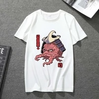unisex t shirt funny food print round neck japanese casual street girl white top male youth short sleeve breathable t shirt