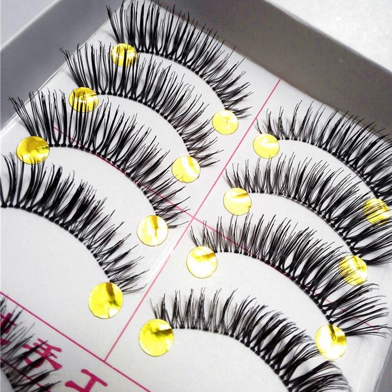 50Pair Fake Eyelashes Cross Thick False Eye Lashes Makeup Super Natural Long Set For Eyelashes For Building Eyelash Extension