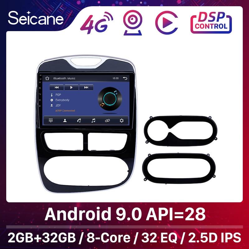 Seicane 10,1 дюймов Android 9,0 автомобильный радиоприемник с навигацией GPS блок плеер для 2012-2015 2016 Renault Clio цифровой/аналоговый поддержка OBD2