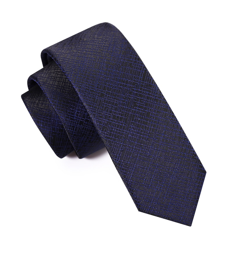 High Quality 2019 New Designers Brands Fashion Business Casual 5cm Slim Ties for Men Necktie Navy Blue Formal Work with Gift Box