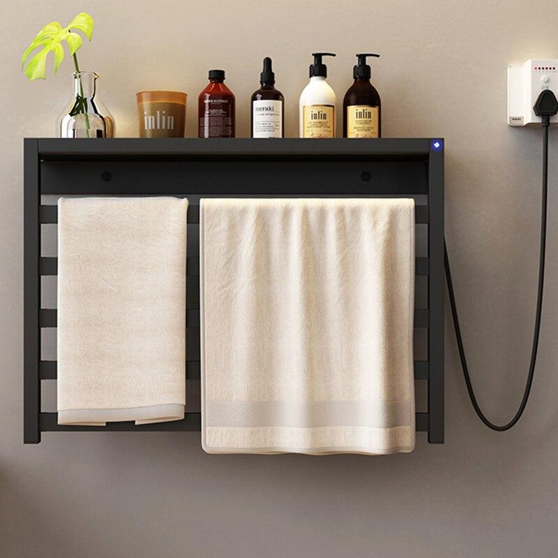 تركيبات لغرفة الاستحمام تسخين كهربائي منشفة الرف ، لا الحفر. الفولاذ المقاوم للصدأ تعقيم مجفف الذكية ، منشفة دفئا.