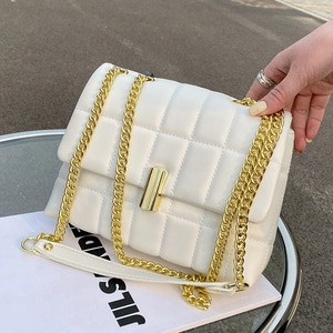 Net Red Texture Women's Bag New 2021 Popular Fashion Chain Single Shoulder Foreign Style Embroidery Messenger Versatile
