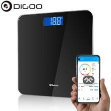 DG-B8025 Escala de grasa corporal piso científica electrónica inteligente LED Digital peso balanza de baño Bluetooth-APP de Android o IOS
