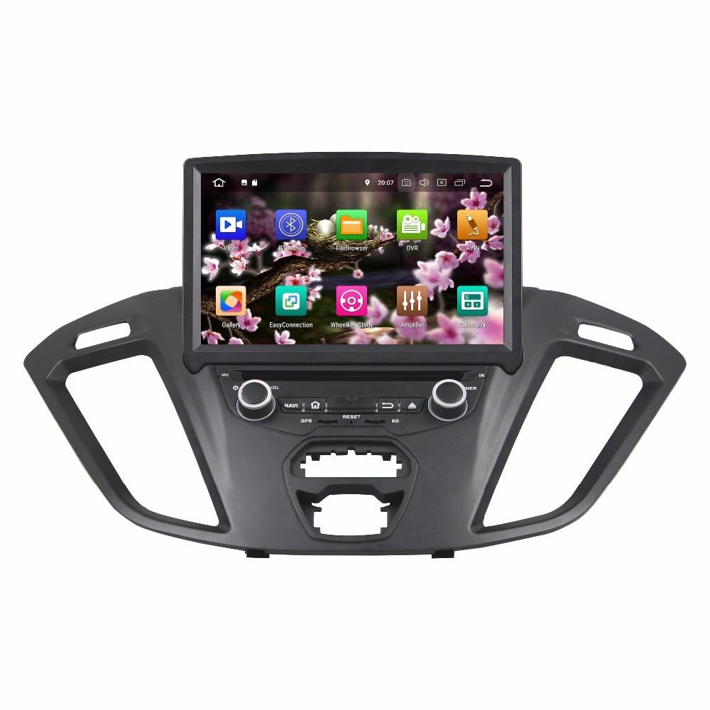 "8 ""1 Din 8 Núcleo Android 10.0 Rádio Do Carro Para Ford Transit Personalizado 2016 DVD Player 1024*600 Car Multimedia Player DSP 4 + 64G Áudio"