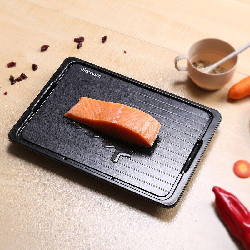 صينية تذويب سريعة مع منظف ، للحوم المجمدة ، لوحة إذابة الطعام ، أداة مطبخ HANW88