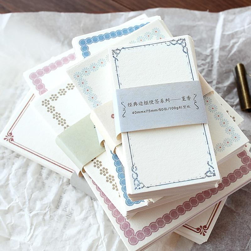 1 pack Classic Vintage Grenze Note Series Nette Memo Pad Tagebuch Stationäre Flakes Sammelalbum Dekorative DIY Kugel Journal