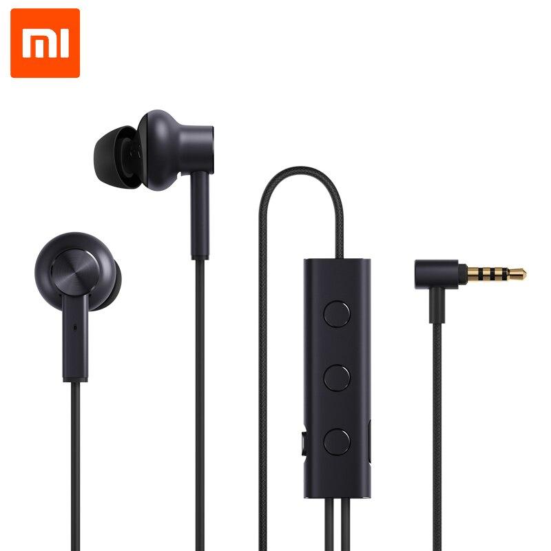 100% original xiaomi mi anc fone de ouvido com cancelamento ruído fone controle com fio com microfone para xiaomi max 2 mi6 smartphone híbrido hd