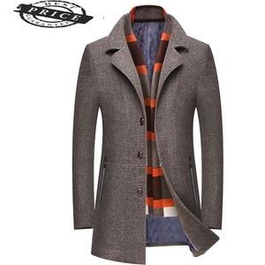 winter wool coats turn Men collar sobretudo masculino mens overcoat casual coat male outwear vintage wool&blends coat