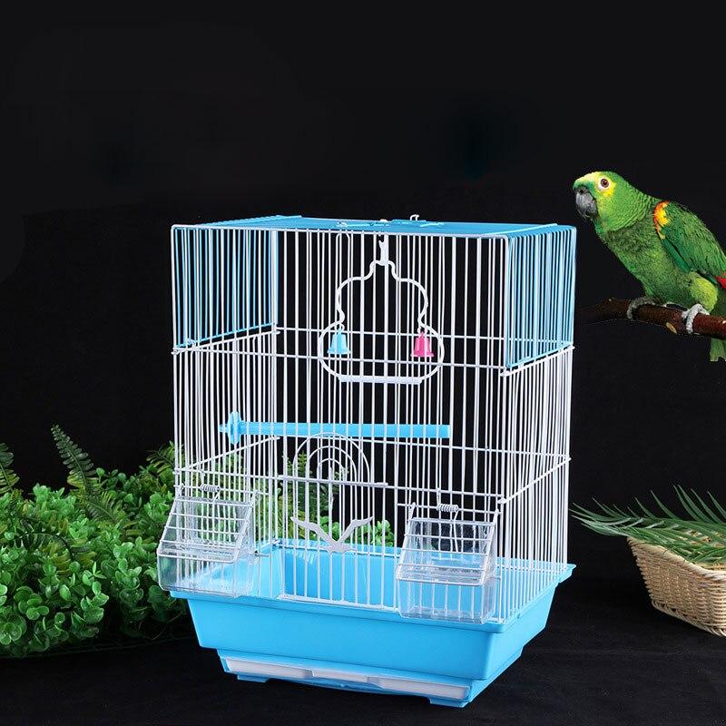 Маленькая клетка для попугаев, канареек, красивый домик для птиц, набор со стоячей палочкой, миска для воды, коробка для еды Птичьи клетки и гнезда      АлиЭкспресс