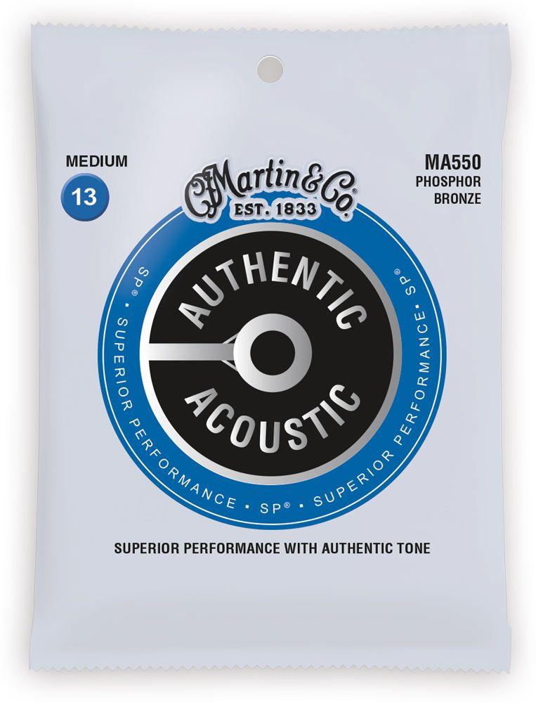 Martin MA550 SP Phosphor Bronze Authentische Akustische Gitarre Saiten Medium 13-56