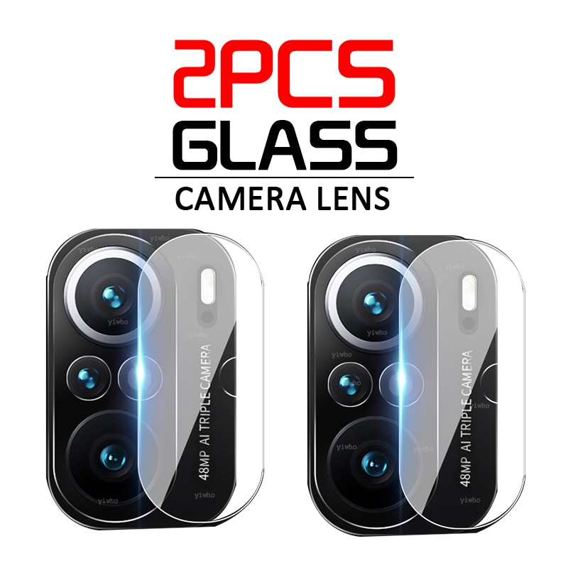 2PCS Tempered Glass for Xiaomi Poco Poko Pocco F3 X3 Pro NFC Camera Lens Screen Protector Glass Mi 10t 11 10 Pro Lite Protective