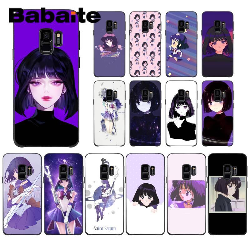 Babaite sailor saturn Tomoe Hotaru foto personalizada funda de teléfono suave para Samsung GALAXY S9 plus S3 S6 7 8 9 S10 E S9 funda móvil