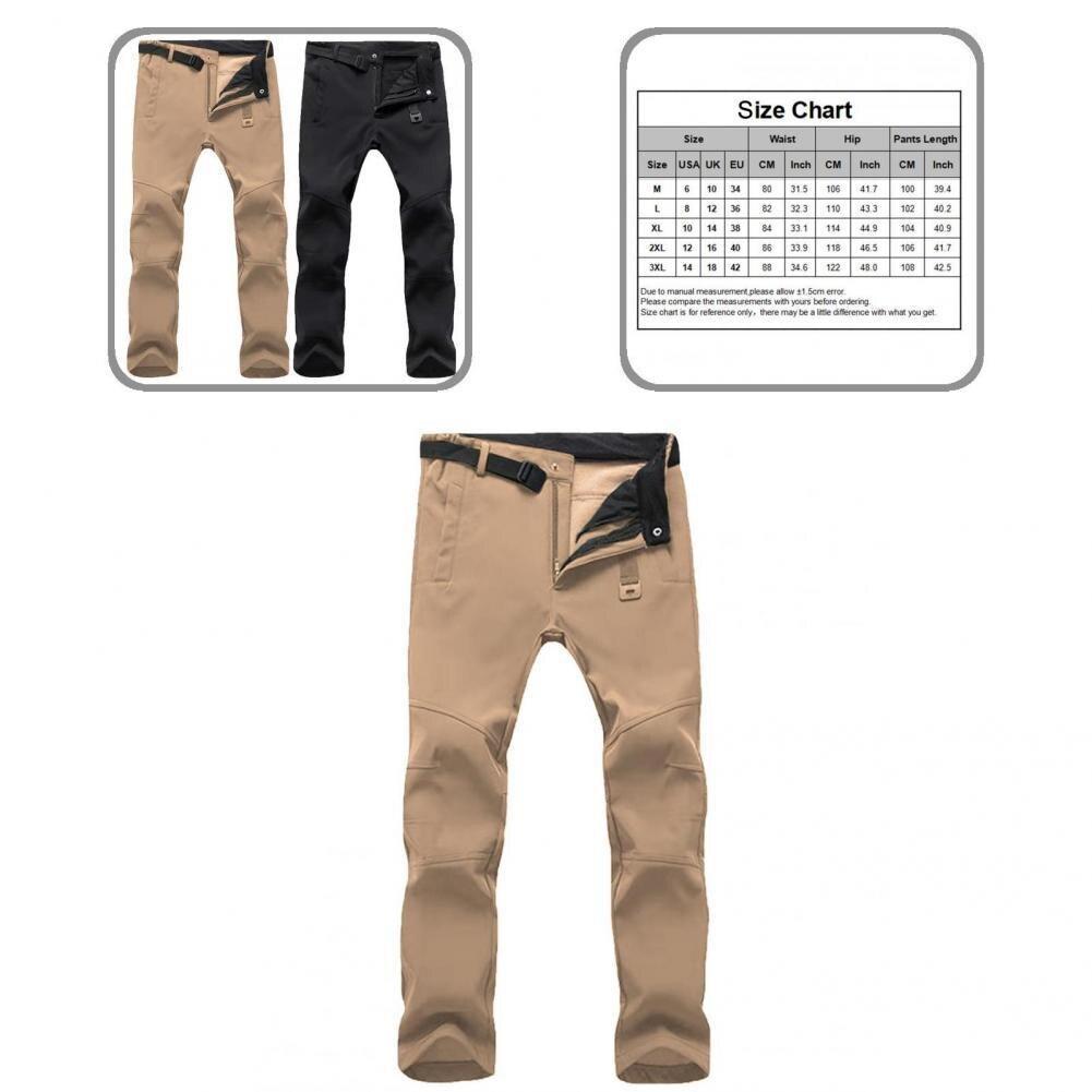 Осенние тянущиеся однотонные мужские Брюки с карманами, мужские плотные брюки для повседневной носки