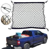 Universal Car Trunk Rear Storage Cargo Luggage Nylon Elastic Mesh 70x30 CM Net Holder With 4 Plastic Hooks Pocket New
