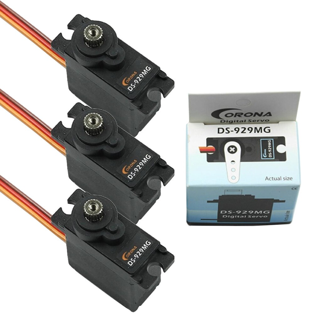Servo RC, Corona DS-929MG DS929MG 12,5g, Servo Digital con engranaje de Metal para TREX 450