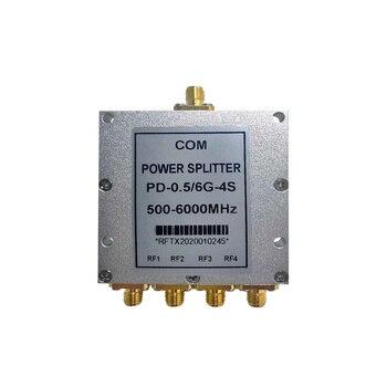 Microstrip Four Power Divider GPS Signal Combiner 500M One Point Four Divider Sma0.5-6G Four Power Divider