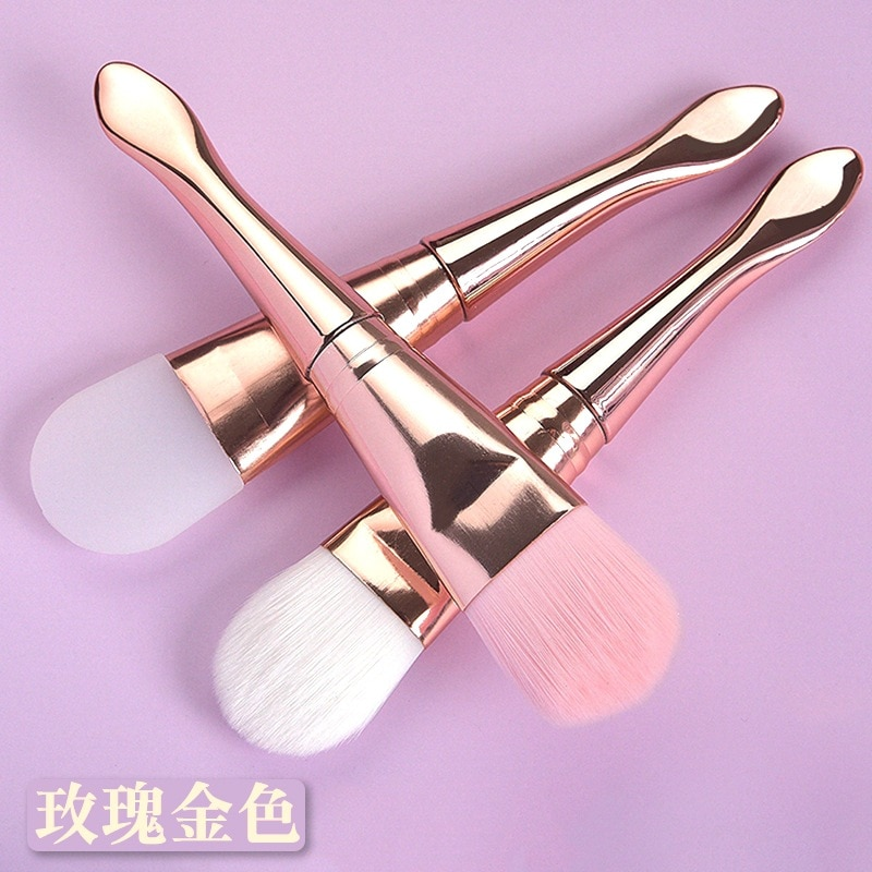 Silicone Mask Brush With Double-Headed Soft Hair Beauty Tools Facial Product Cosmetic Spa Cream Foun