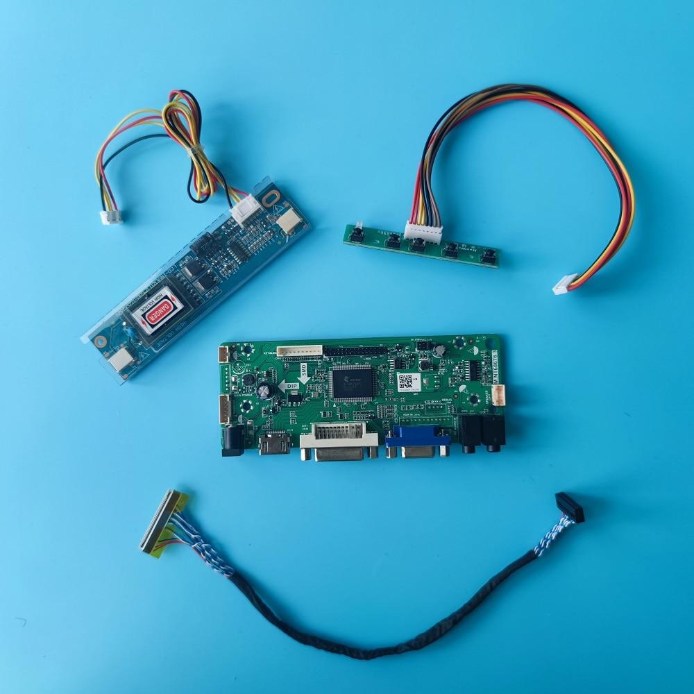 HDMI-متوافق + DVI + AUDIO + VGA وحدة تحكم بشاشة إل سي دي طقم لوحة ل 18.4