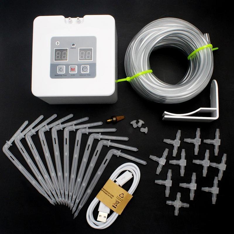 نظام الري بالتنقيط التلقائي الصغير ، نظام الري مع مؤقت 30 يومًا ، شحن USB