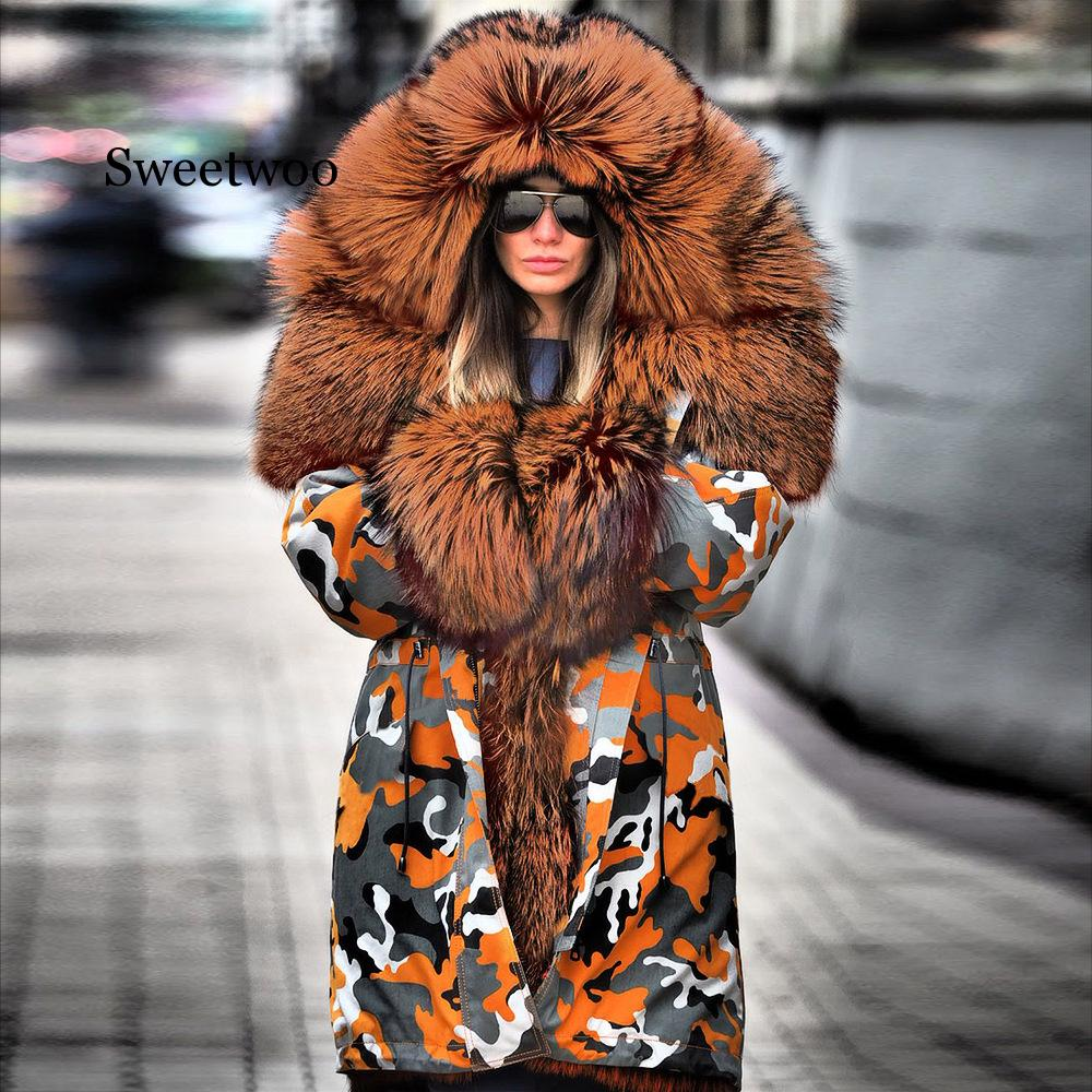 Women Plus Size Winter Jacket Coat Hooded Overcoat Cotton Coat Women Faux Fur Coat Warm Parka Women's Thick Furs Coat