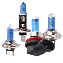 Ampoule de phare de voiture H1 H4 H7 H11   Ampoule halogène, feu de jour Auto DRL, Super lumineux blanc, brouillard inversé, 55W 5000K 12V