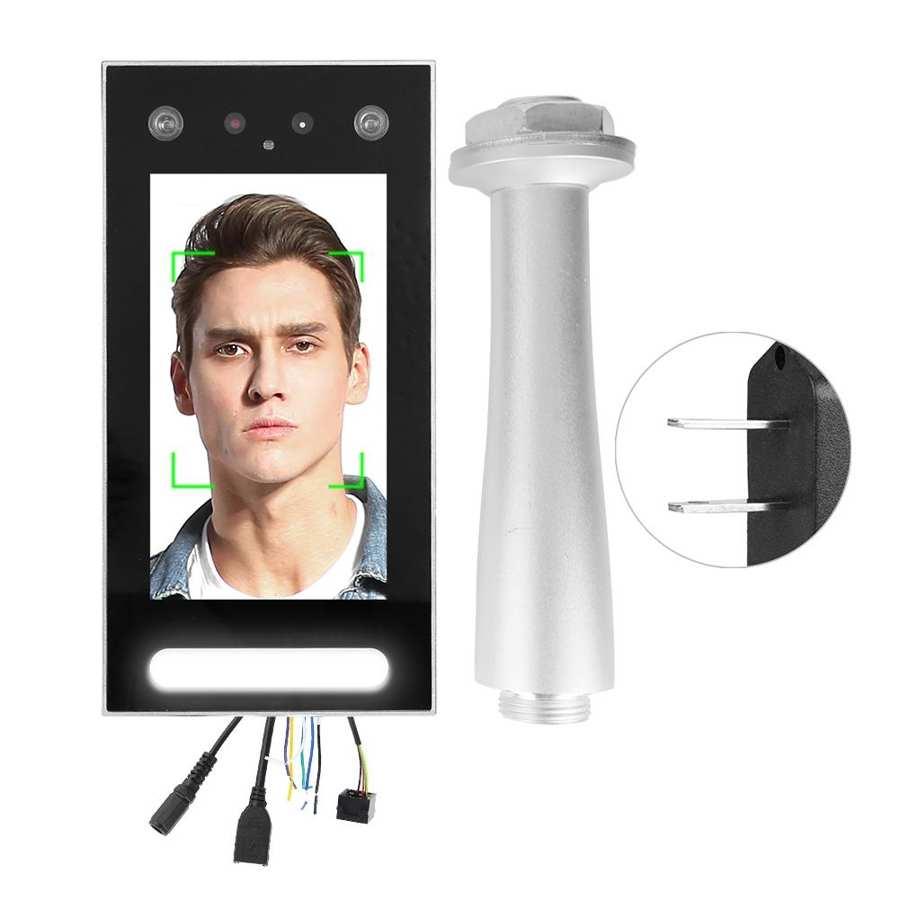 7in TFT 1080P/720P Cámara Dual de HD reconocimiento de cara inteligente Control de acceso de puerta cerradura de puerta inteligente 110-240V enchufe estadounidense