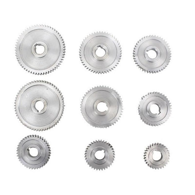 تروس مخرطة معدنية ، تغيير العتاد مع حزام مخرطة ، مجموعة تروس معدنية ل CJ0618 مخارط صغيرة وآلات الطحن