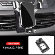 Car Mobile Phone Holder For Hyundai Celesta 2017 2018 2019 2020 Mounts GPS Stand Gravity Navigation Bracket Car Accessories