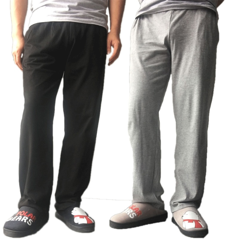 Men's Lounge Pants Soft 100%cotton Sleep Bottoms long trousers Loose Casual Pajamas Summer Homewear