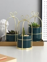 ceramic iron vase home decoration ornaments nordic style ins retro green small vase succulent flower flower vases for weddings