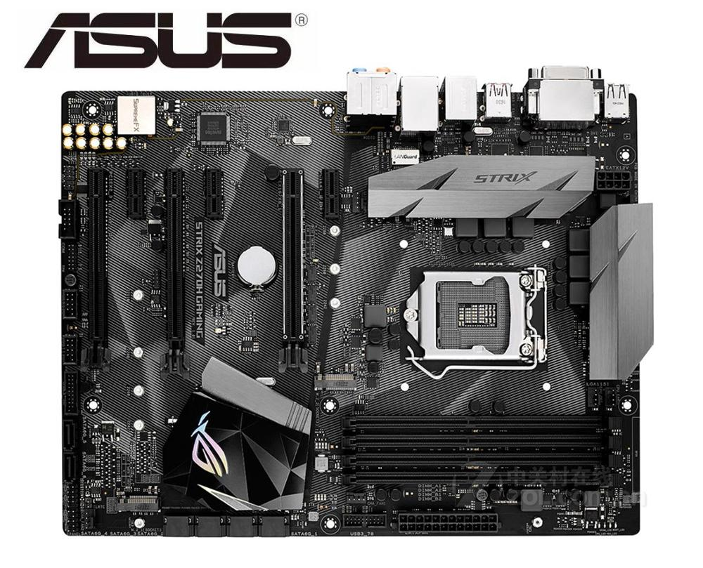 Desktop Motherboard Asus ROG STRIX Z270H GAMING USED  Socket LGA 1151 i7 i5 i3 Z270 DDR4 USB3.0 mainboard PC boards
