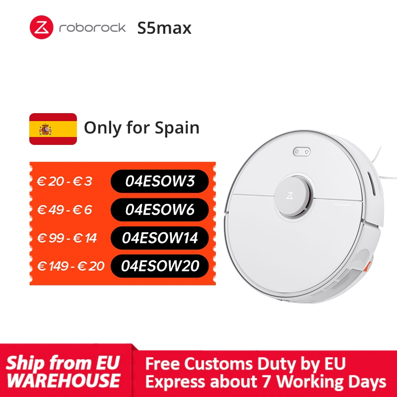 Roborock S5 Max Vacuum Cleaner Robot S5max Sweeping Mopping Carpets Hard Floor Cleaning upgrade of S50 S55 collect pet hairs