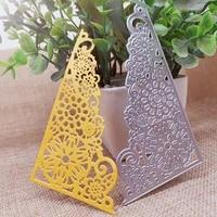 new metal cutting dies scrapbooking lace flower adge diy album paper card craft embossing stencil dies 11060mm