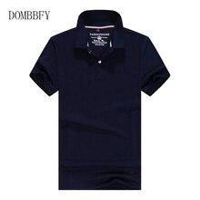 Été mode hommes Polo chemise solide coton à manches courtes hauts pour homme mince respirant polos Hombre maillots grande taille 4XL