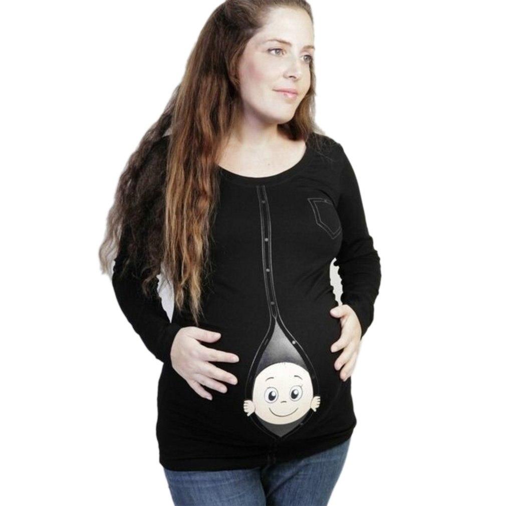 ¡Novedad! Ropa premamá bonita, camisetas casuales de premamá con bebés, divertidas camisetas de verano para mujeres embarazadas de talla grande.