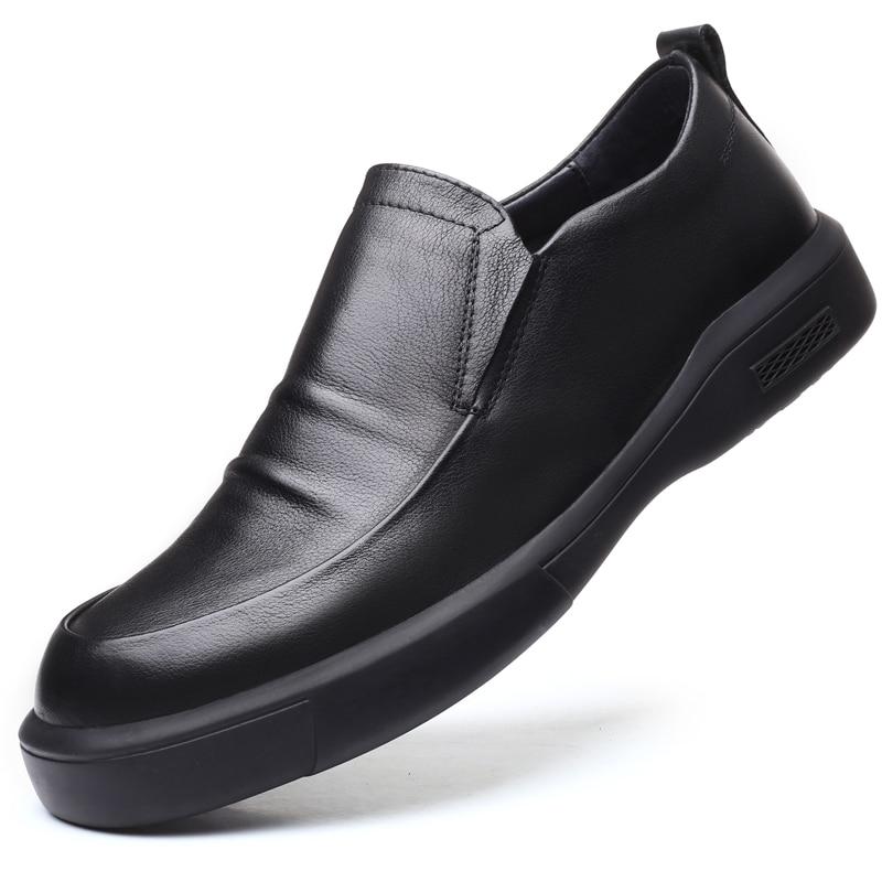 أحذية جلدية غير رسمية للرجال ، أحذية ربيعية بنعل ناعم على الطراز البريطاني ، مناسبة للجميع