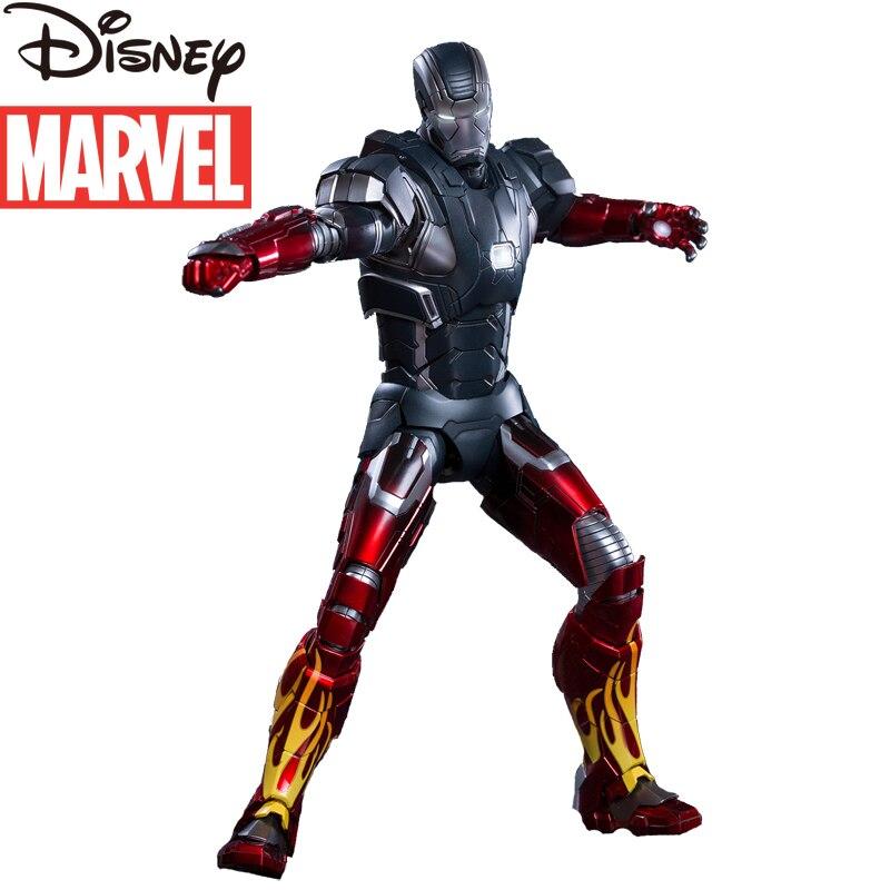 Original Marvel Genuine Metal Iron Man Alloy Figure Can Illuminate Mk22 Gears of War 1/9 Soldier Decoration