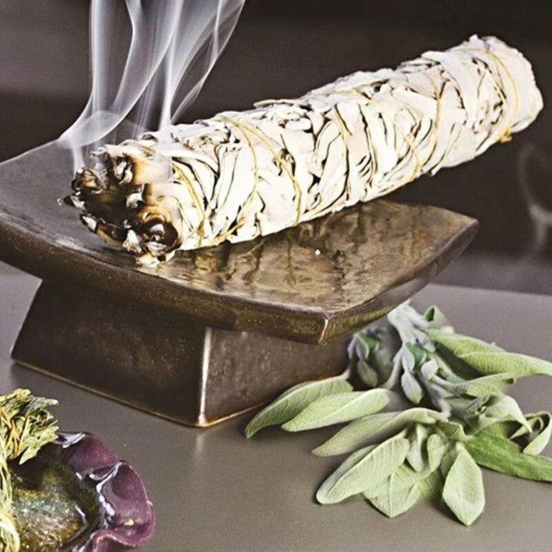 Aire purificador ahumado de hoja pura de salvia blanca de California, fragancia de Yoga para interiores, incienso natural de 65g
