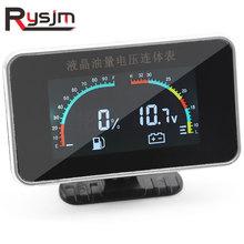 2 en 1 LCD voiture voltmètre numérique jauge automatique tension jauge de carburant Volt mètre Auto pièces de rechange 12V universel voiture moto
