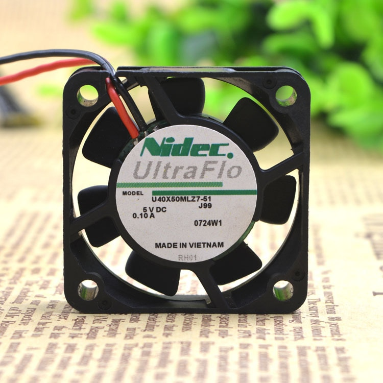 Japón eléctrico U40X05ML27-51 para Nidec 4cm 4cm súper silenciosa Fan 40105V USB