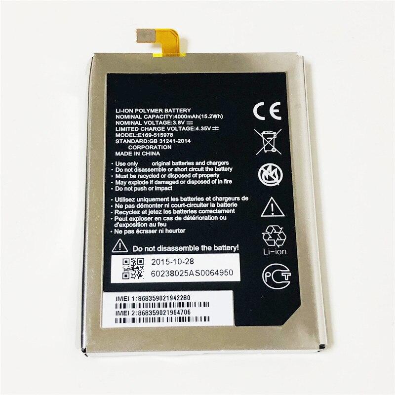 3,8 V 4000mAh E169-515978 / 515978 para ZTE Blade X3 D2 A452 BA452 viaje 2 II Q519T аккумулятор batería Batteria de la batería